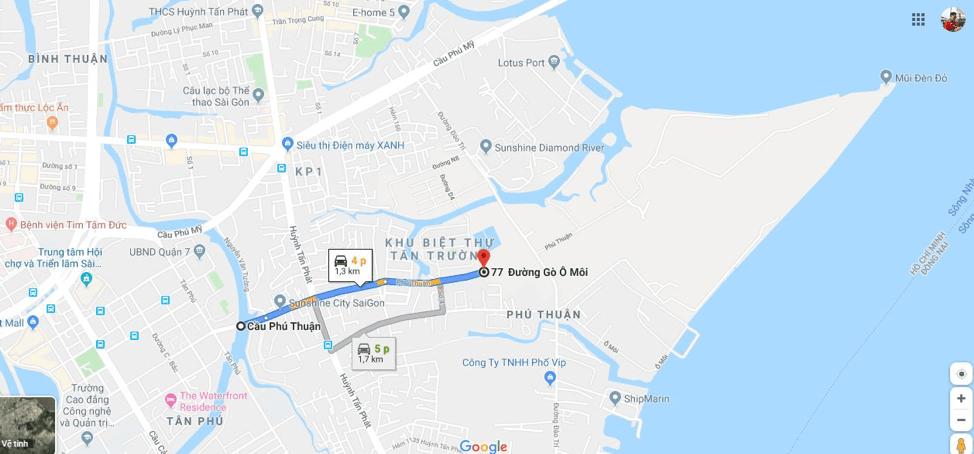 Đường Phú Thuận – cập nhật quy hoạch mới nhất 2020