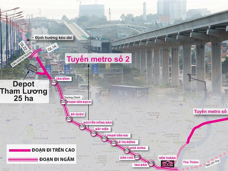 Tuyến Metro số 2 khi nào được khởi công?