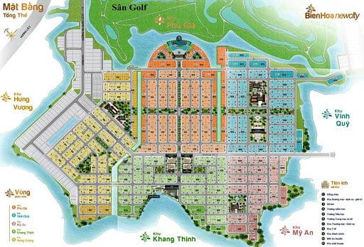 mat bang bien hoa new city
