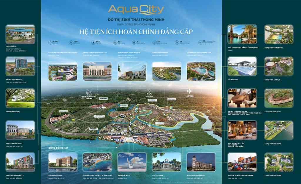 Tiện ích Aqua City có gì? Vì sao được giới THƯỢNG LƯU lựa chọn?