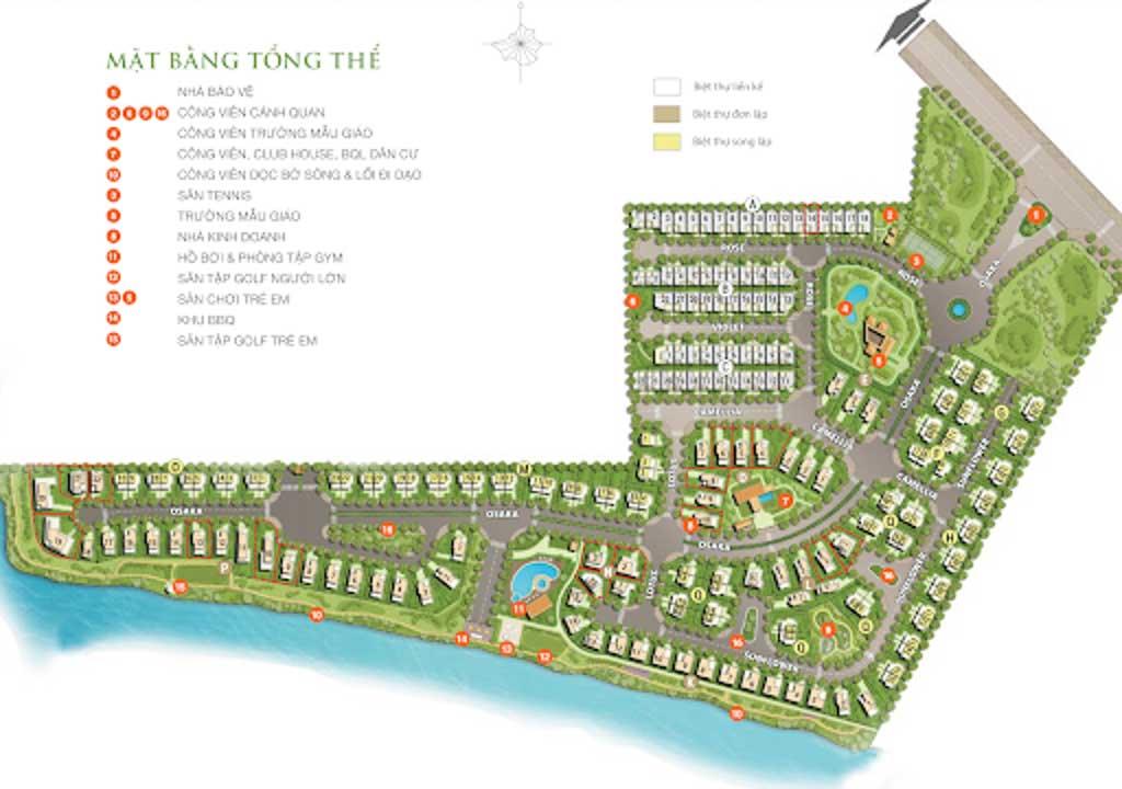 mat bang villas park