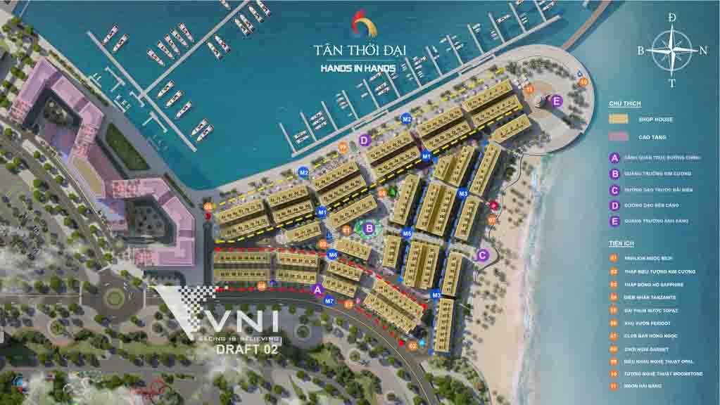 mat bang tong the sun grand marina town